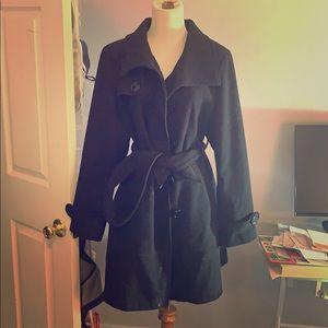 Worthington black pea coat Large